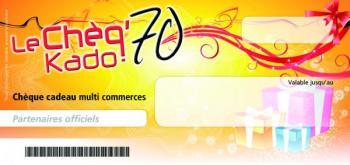 Chèq'70 Kado le chèque cadeaux Haut-Saonois - UDCIA